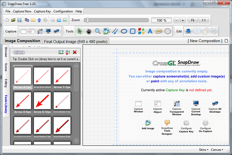 SnapDraw screen capture tool